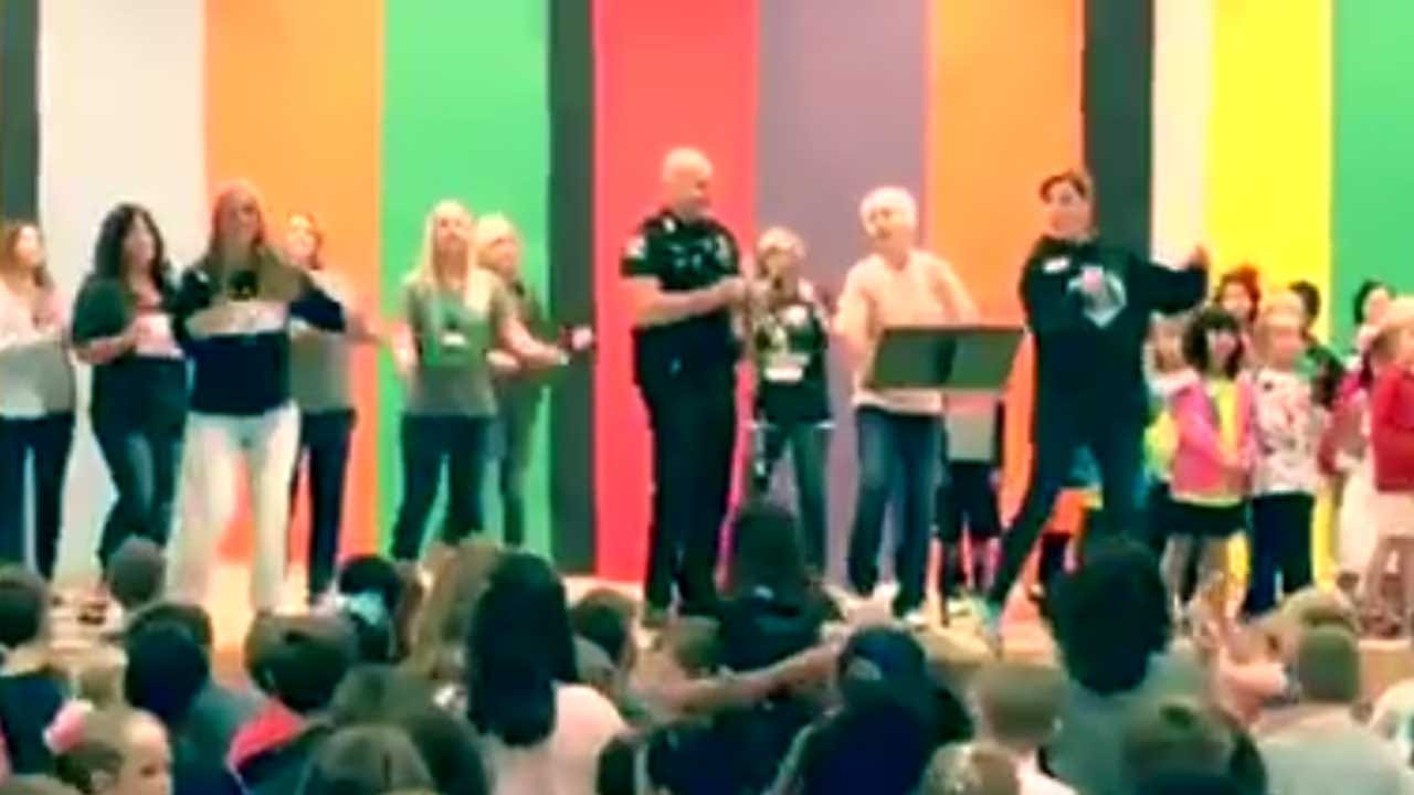 Oklahoma Co. Sheriff's Office Shares Video Of Deputy Dancing With Students