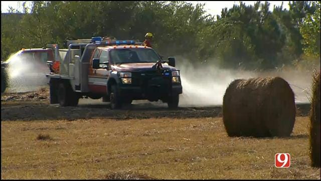 Grass Fire Flares Up In SE OKC