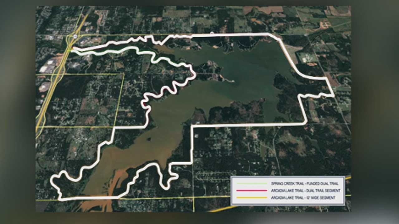 City Of Edmond Breaks Ground For New Trails At Lake Arcadia