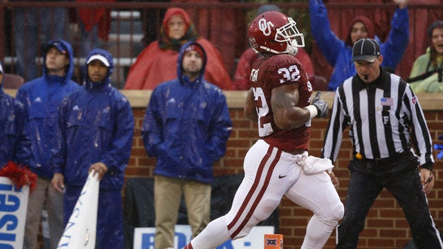 Four Scores And 200 Yards Ago: Perine Named Big 12 Offensive Player Of The Week