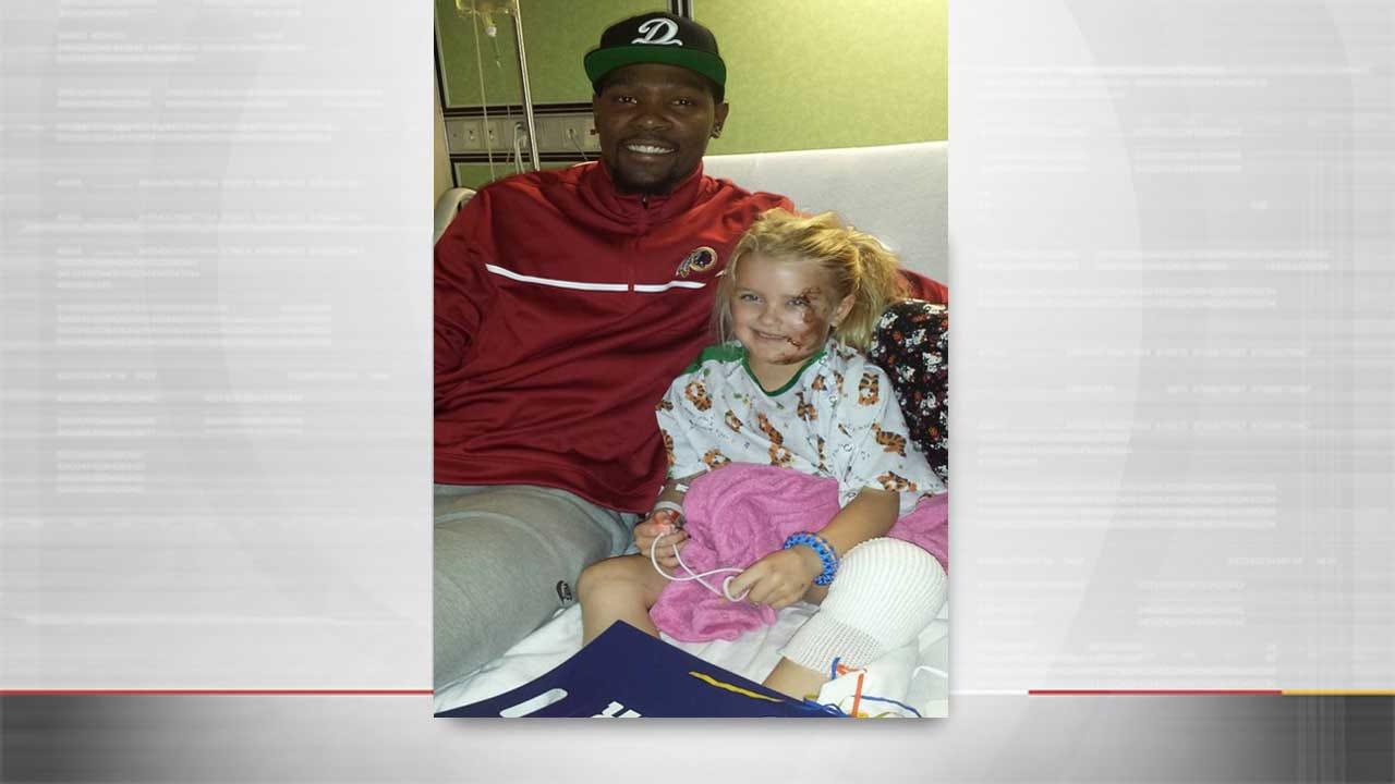 Thunder Players Visit OSU Crash Victims In Hospital