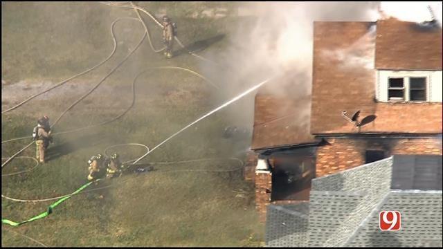 Crews Contain House Fire Near Downtown OKC