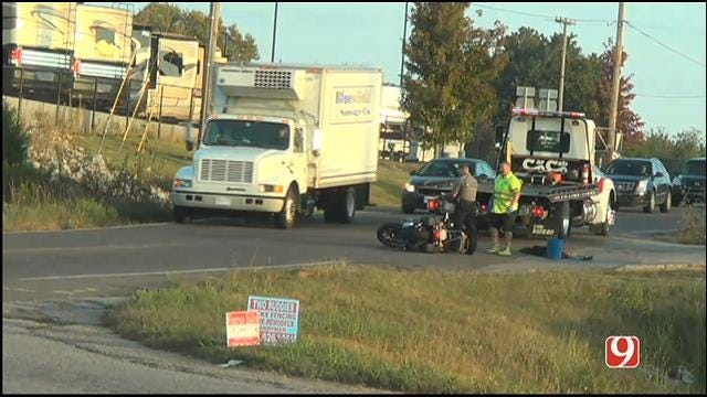 Traffic Alert: Motorcycle Involved In Collision In SE OKC