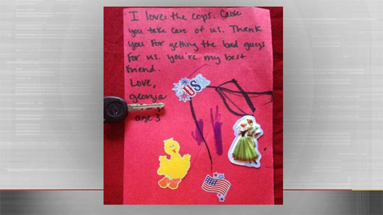 OKC Police Share Little Girl's Card To Officers At State Fair