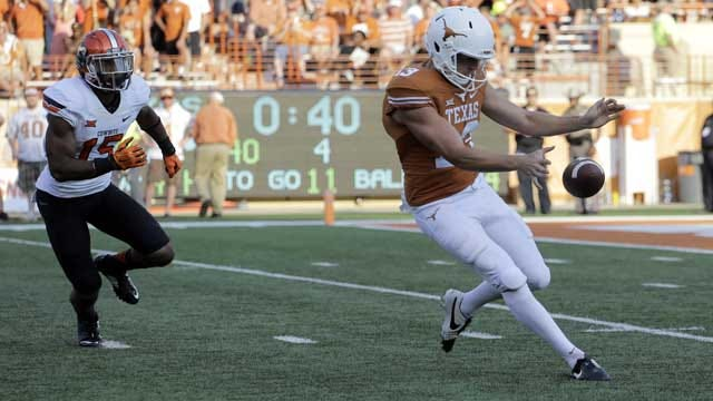 Texas' Kicking Meltdown Helps OSU Clinch Record Win
