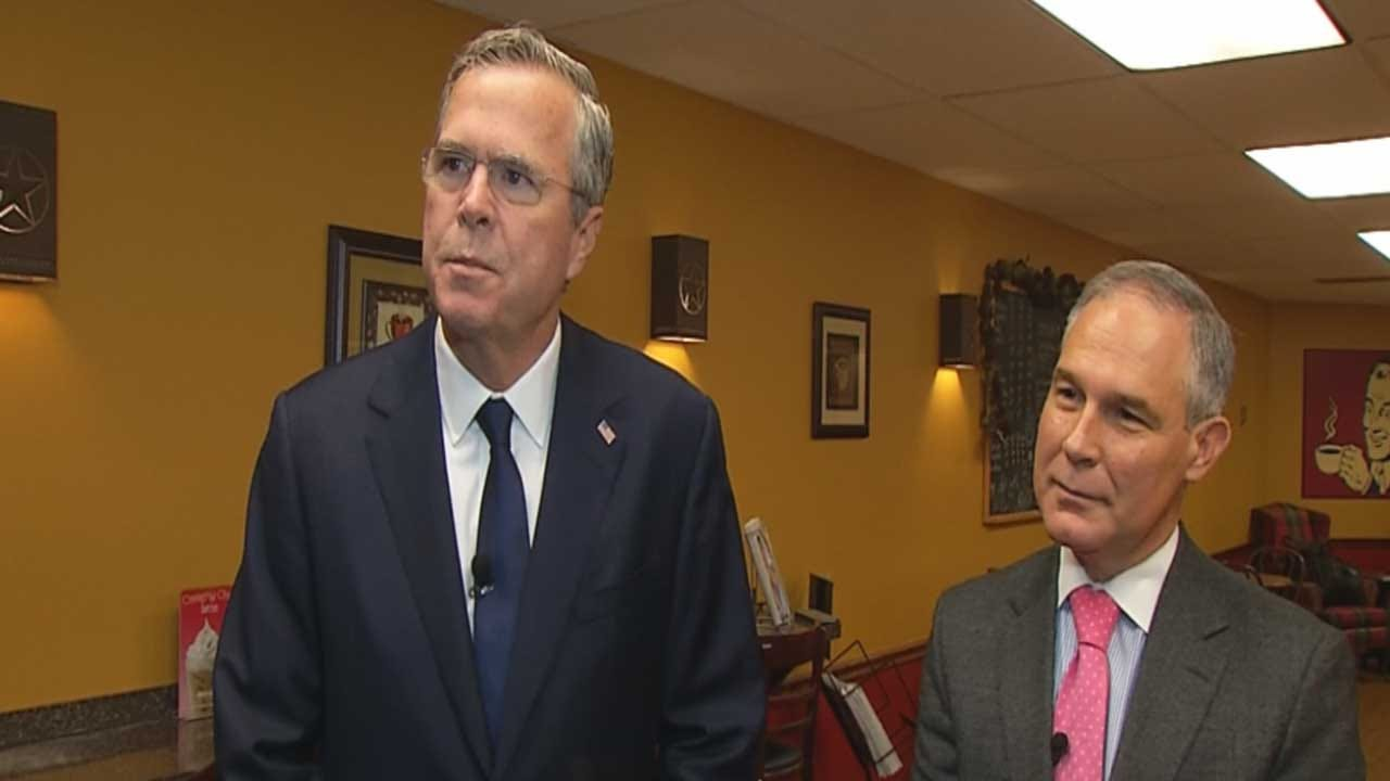 GOP Candidate Jeb Bush Teams Up With State AG Scott Pruitt