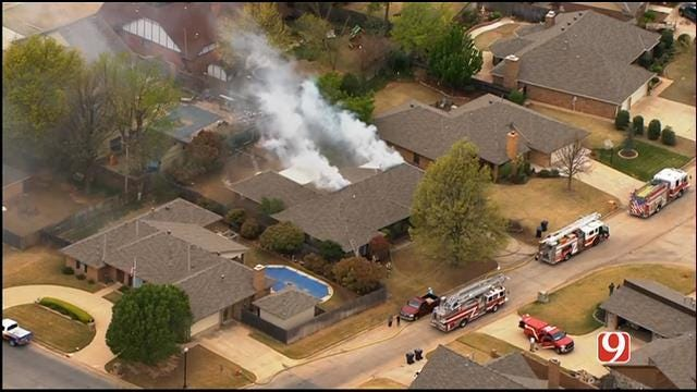 Crews Battle Fire At Vacant Home IN SW OKC