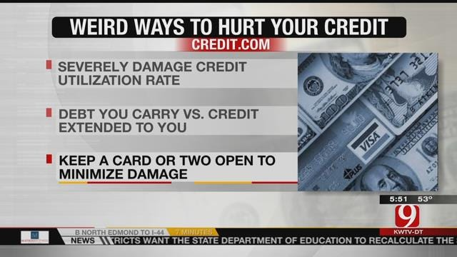 Unexpected Ways To Hurt Your Credit Score