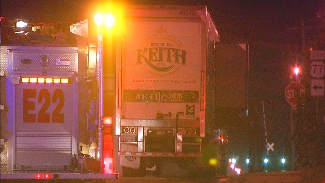 Driver Unharmed After Semi Catches Fire In North OKC