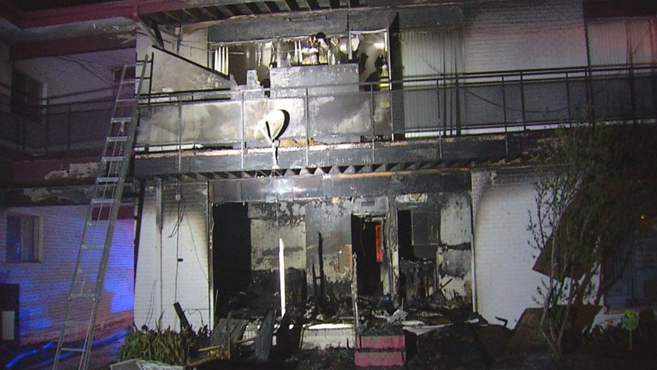 None Injured In NW OKC Apartment Fire
