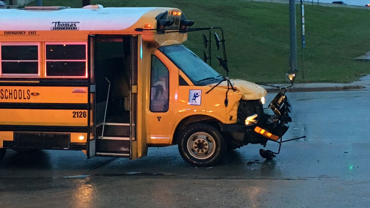 No Injuries Reported After School Bus Accident In SE OKC