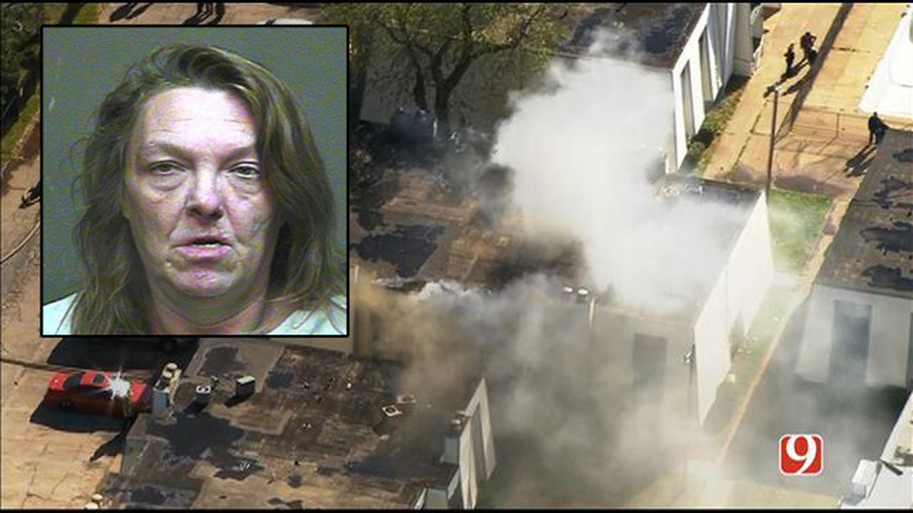 Woman Arrested For Arson In Connection To SW OKC Apartment Fire