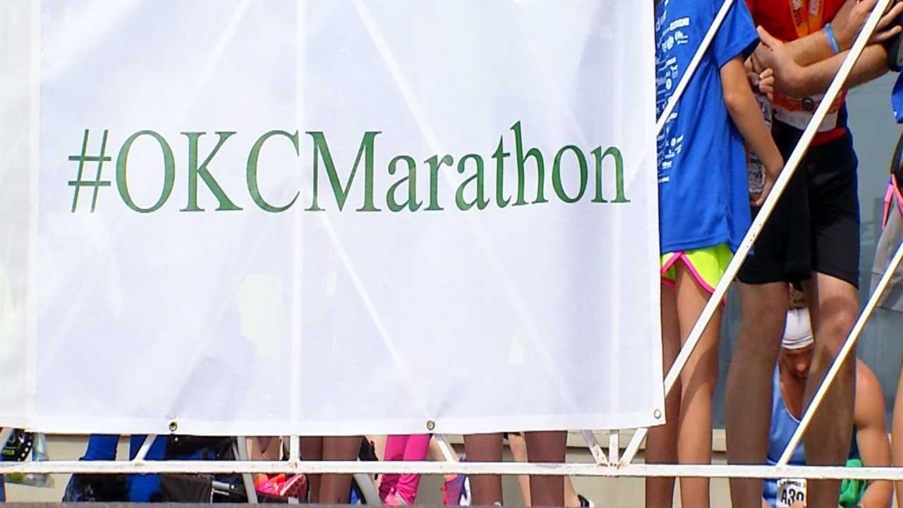 OKC Police Officer Runs In Memorial Marathon