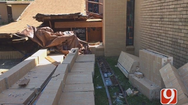 Davis Community Rallies To Repair Church Destroyed During Tuesday's Storms