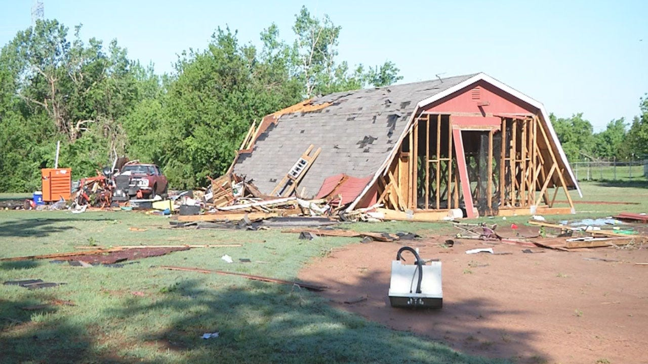 Mustang Family's Barn, Vehicle Destroyed In Storms