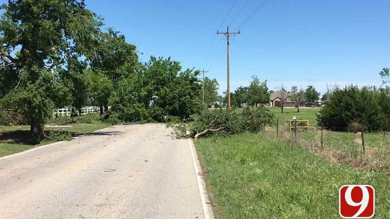 Mustang Residents Cleaning Up After Tuesday Night's Storms