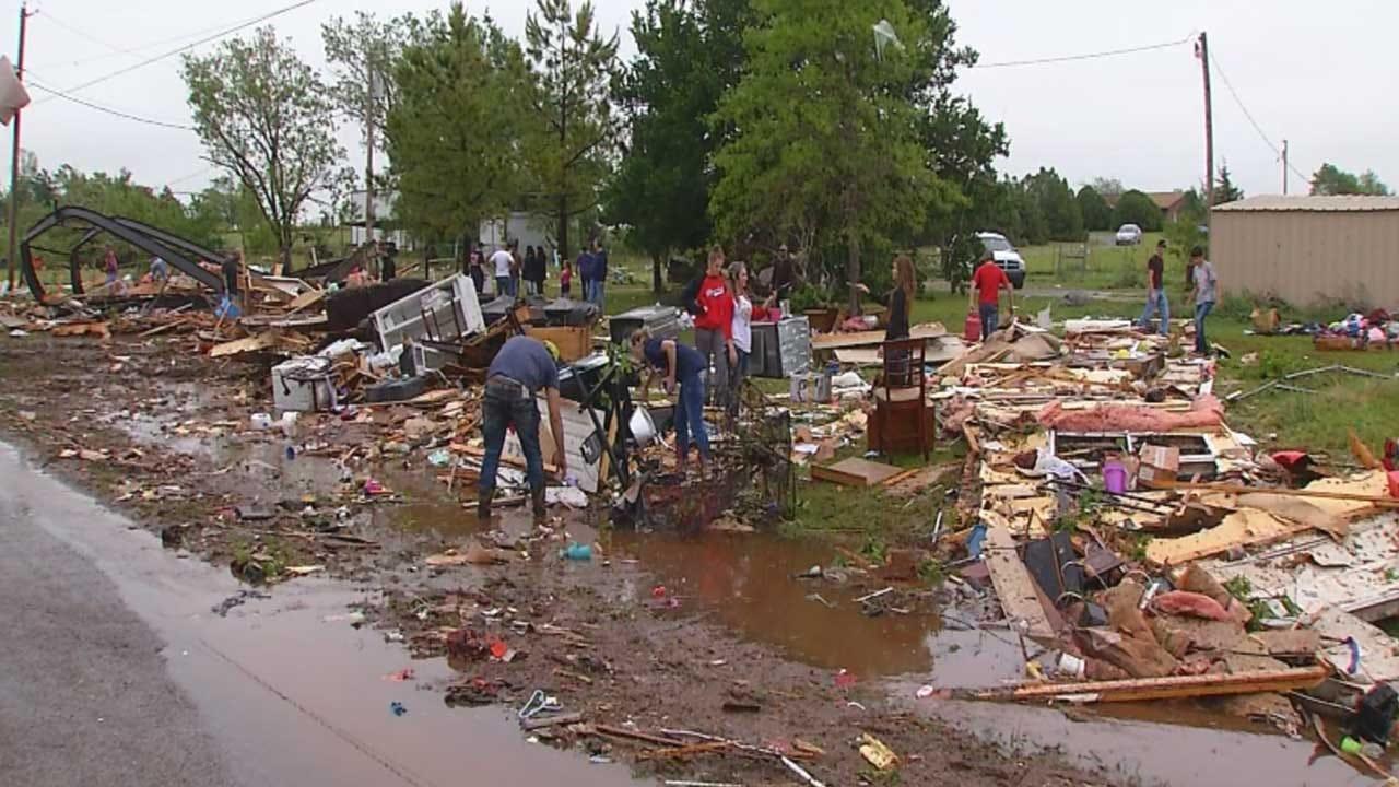 Tornado Leaves Trail Of Destruction In Ninnekah