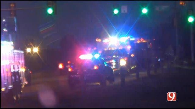 Crews On Scene Of Motorcycle Accident In Oklahoma City