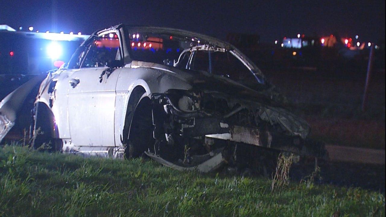 Driver Flees Scene After Car Fire In SW OKC