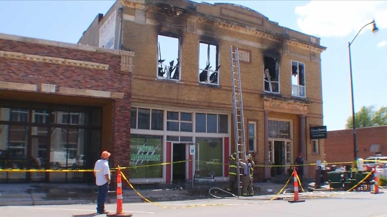 Tuttle Firefighters Undergo Training At Historic Landmark