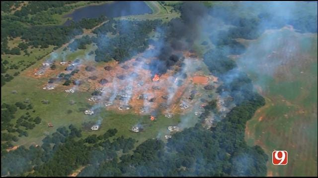 Firefighters On Scene Of Controlled Burn Near Coyle