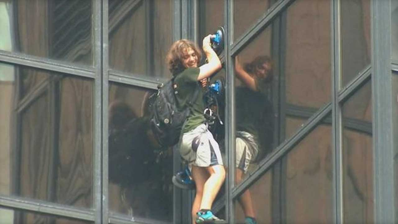 Man Climbs Trump Tower In New York City
