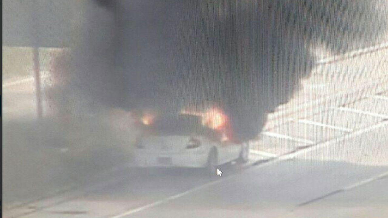 Crews On Scene Of Car Fire In Northwest OKC