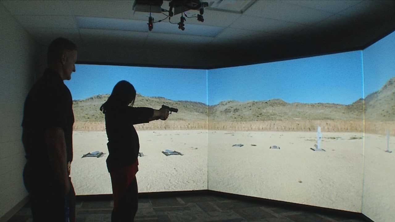 MWC Police Department Unveils New Training Simulator