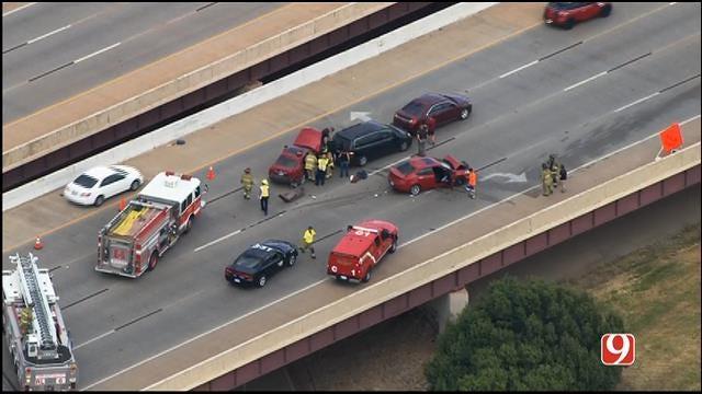 Injury Crash Shuts Down Traffic On SB I-235