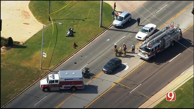 Motorcycle Officer Injured In Crash In Midwest City