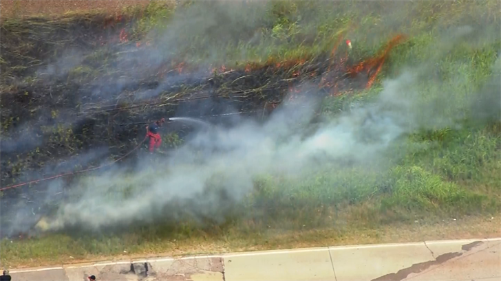 Crews Battle Grass Fire In SW OKC