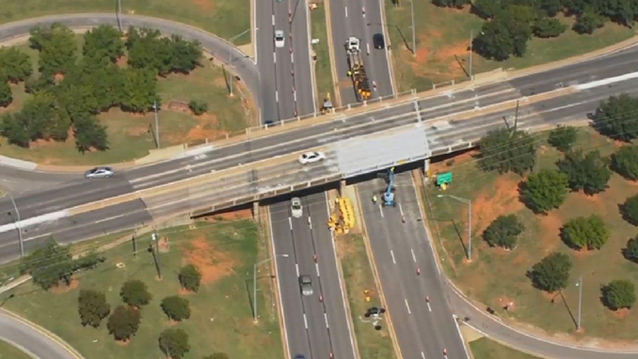 NW Expressway Narrowed As Crews Repair May Ave. Bridge In OKC