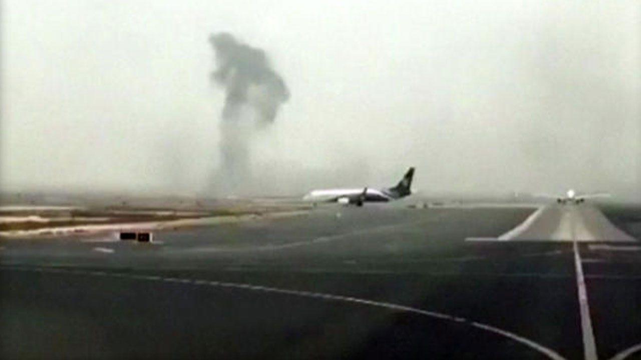 Smoke Billows From Jetliner After Crash-Landing