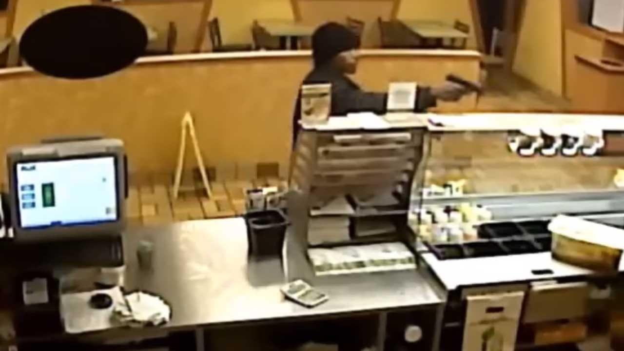 Man Caught On Camera Robbing OKC Subway Restaurant