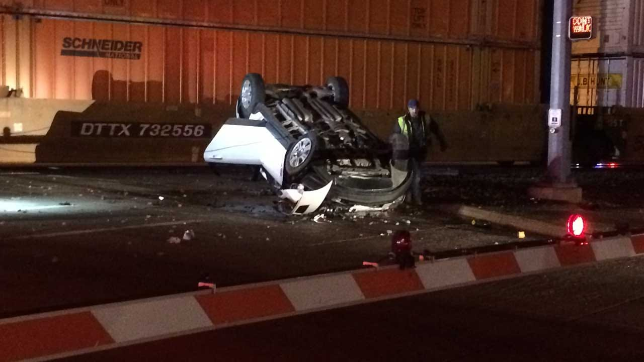 OKC Fire: No Injuries Reported After Train Hits Vehicle