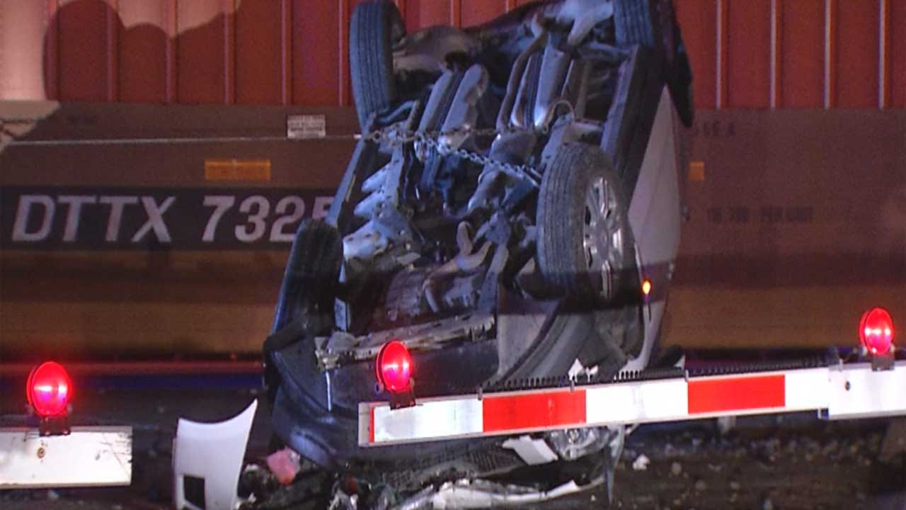 Mother, Children Escape Before Vehicle Gets Hit By Train