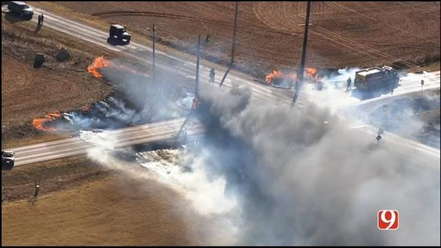 Firefighters Battle Fire In Deer Creek Area