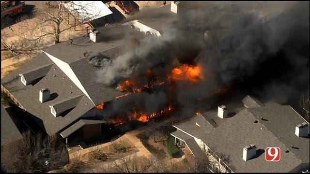 Large Fire Breaks Out At NW OKC Apartment Complex