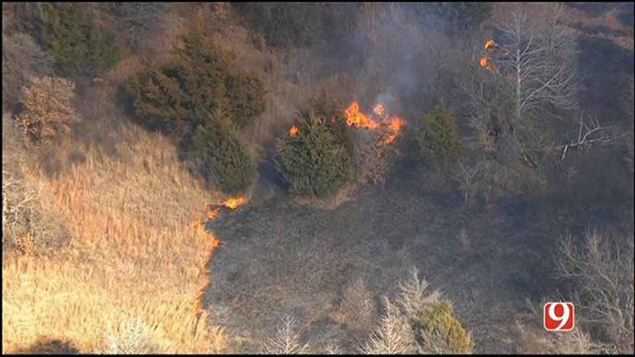 Grass Fires Flaring Up Around OKC Metro