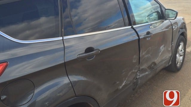 NW OKC Hit And Run Crash Leaves Single Dad Fuming, Thankful To Be Alive