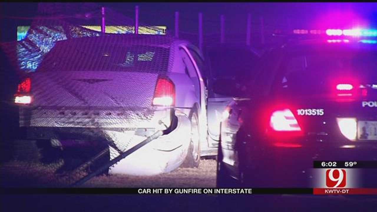 Car Hit By Gunfire On Interstate In SE OKC
