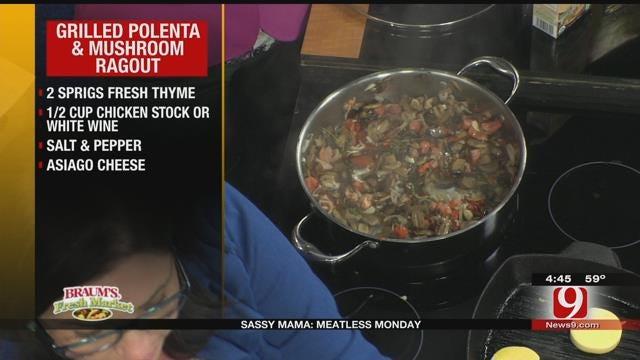 Grilled Polenta with Mushroom Ragout