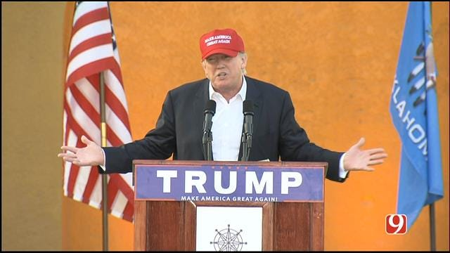 Donald Trump Makes Another Campaign Stop In OKC