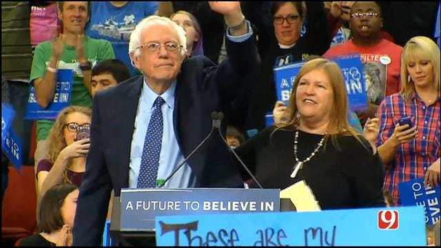 Bernie Sanders Makes Final Push In OK Before Primary