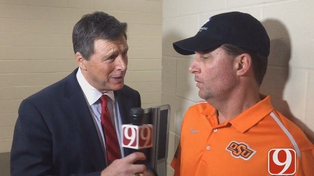 Dean Catches Up With Oklahoma State Coach Mike Gundy
