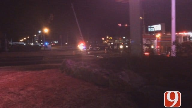 Three Teens Arrested After Chase Ends In Fiery Crash In MWC