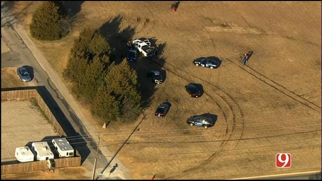 Suspect Leads Authorities On Chase, Crashes Into Casady School Gate