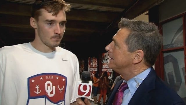 Dean Chats With Ryan Spangler After Win Over Texas