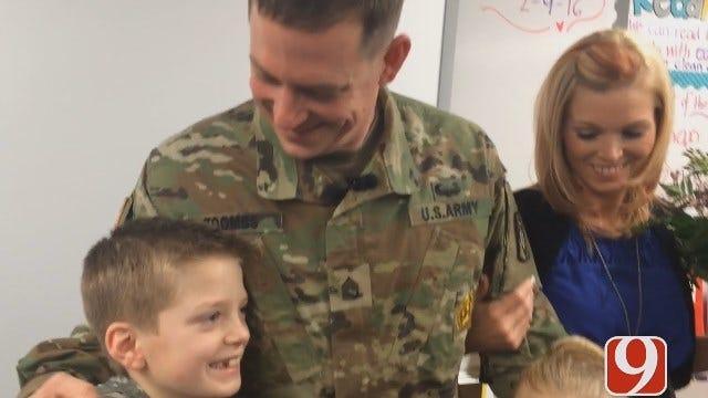 Metro Soldier's Homecoming Surprises Kids At School