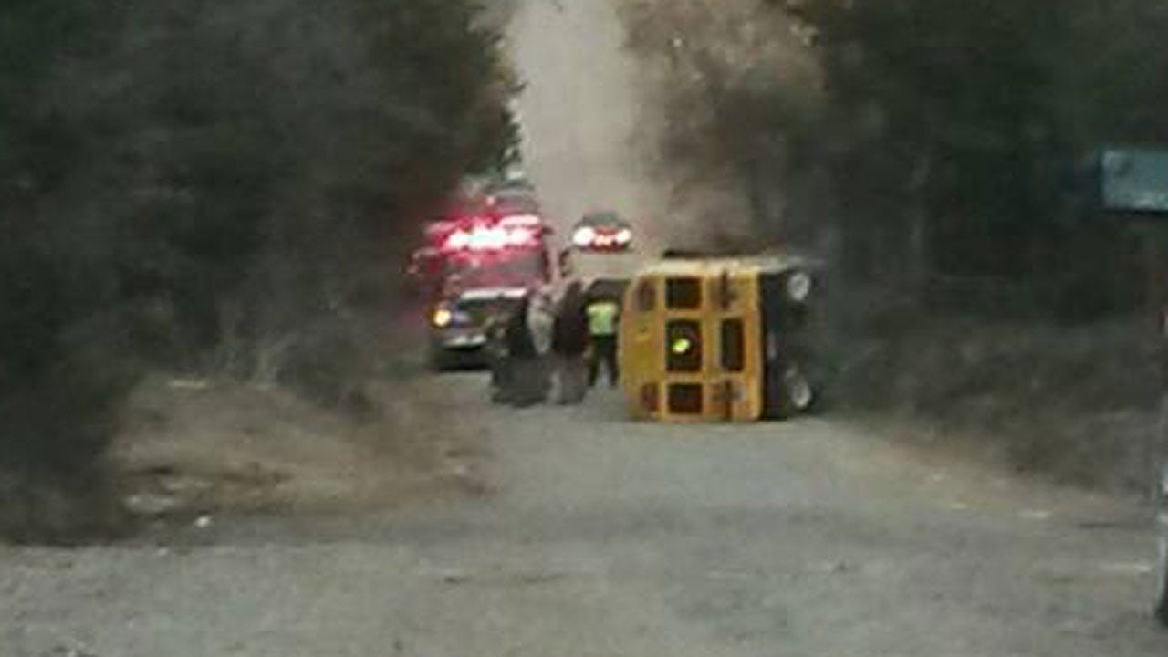 No Students Seriously Injured After School Bus Overturns Near Yale
